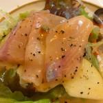 調理例:尺ヤマメのカルパッチョ