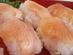ヤマメの握り寿司